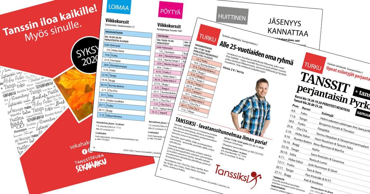 Tanssiseura Sekahaku - Kausiesite SYKSY 2020