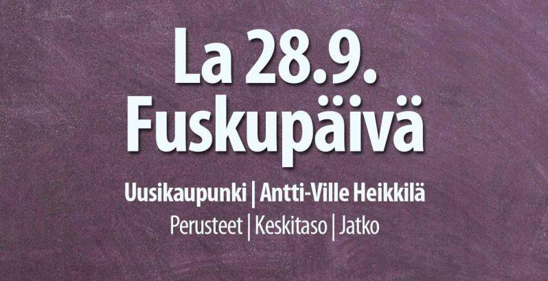 La 28.9. Fuskupäivä Uudessakaupungissa Tanssiseura Sekahaku ry
