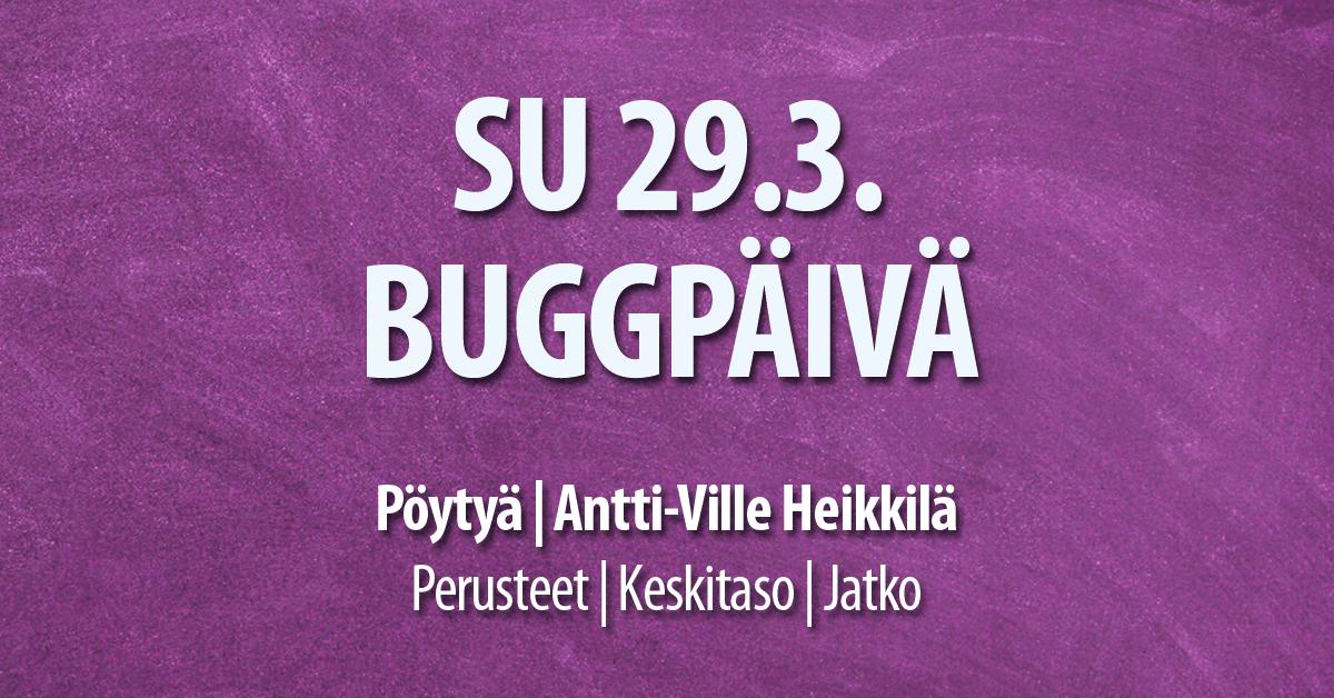 Bugg Pöytyä 29.3.