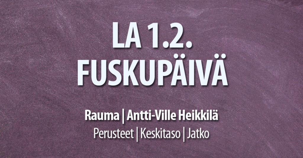 1.2. Fuskupäivä Rauma / Tanssiseura Sekahaku ry