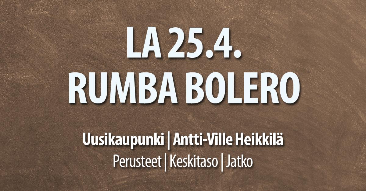 25.4. Rumba Bolero Uusikaupunki / Tanssiserura Sekahaku ry